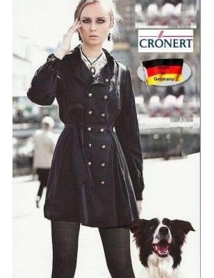 Collant Cronert à cotes Coton noir