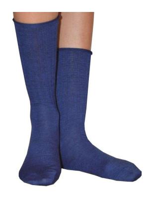 Chaussettes Cronert  Laine roulée Bleues
