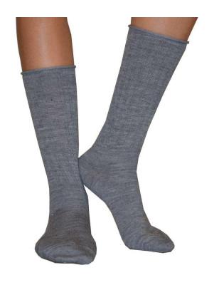Chaussettes Cronert  Laine roulée grises