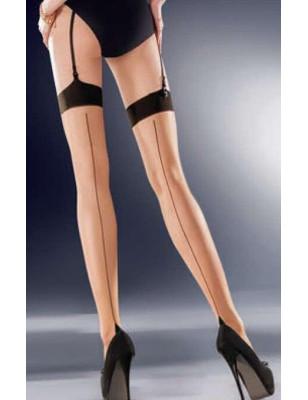 Bas CLassique Lido-couture peau noir