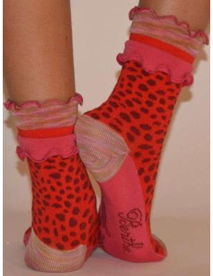 Chaussettes léopard Frou frou Berthe aux grands pieds