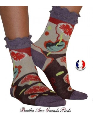 Chaussettes Tulipes Frou frou Berthe aux grands pieds