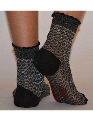 Socquette Fil Berthe aux grands pieds vagues Gothique