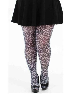collant Pamela Man taille spéciales small leopard blanc
