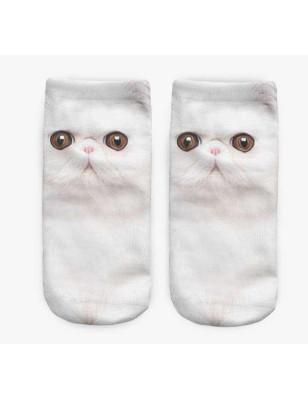 socquette  chat blanc lpc