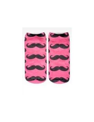 Socquettes moustaches roses LPC