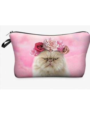 Trousse de fille Chat grognon