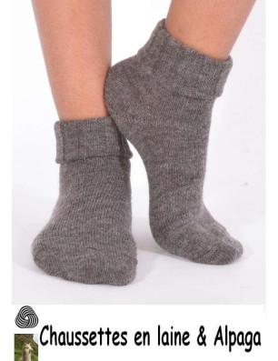 Chaussettes laine et alpaga bord confort