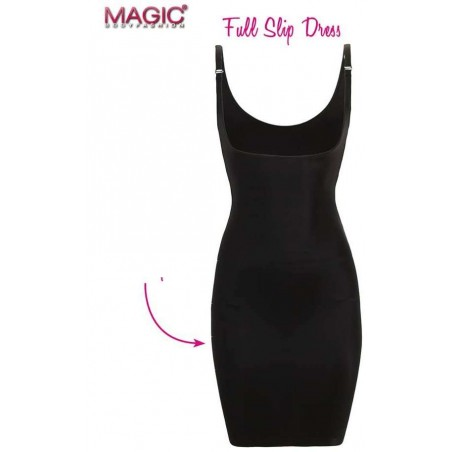 fond de robe affinant Magic Bodyfashion noir détail