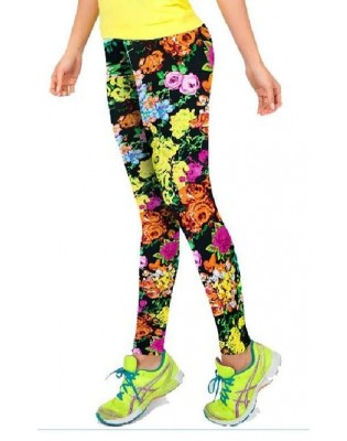 Leggings de yoga Fleurs de printemps
