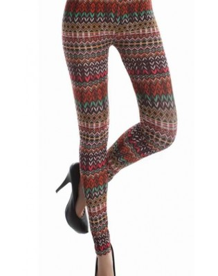 Leggings  Imprimé maille missoni