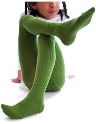 Collant coton Enfant Vert Ysabel Mora