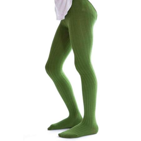 Collant coton Enfant Vert Ysabel Mora profil