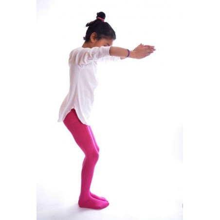 Collant coton Enfant Rose Ysabel Mora profil