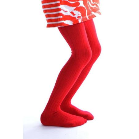 Collant coton enfant rouge Ysabel Mora