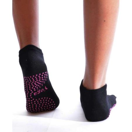 Chaussettes De Yoga à doigts de pieds noires