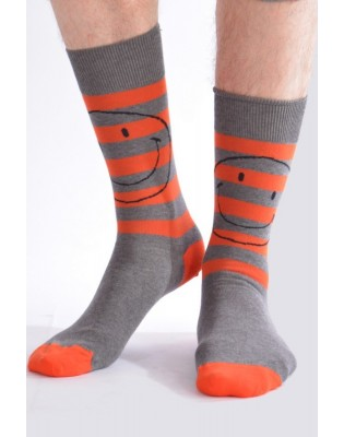 Chaussettes Hom Smiley orange détail