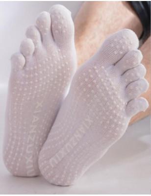 Chaussettes yoga japonaise  blanche  unisex