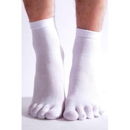 Chaussettes yoga japonaise blanche face