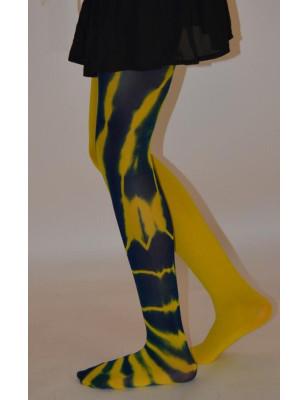 Collant Asymétrique fauve jaune