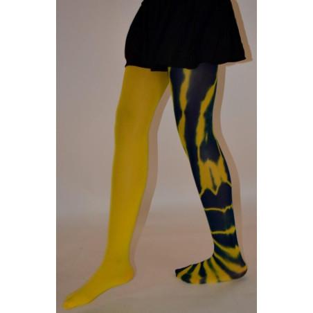 Collant imprimé Asymétrique fauve jaune