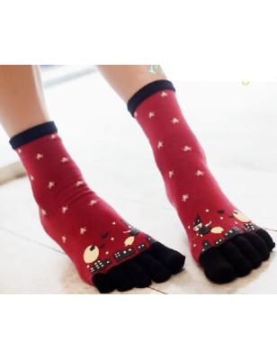 Chaussettes à 5 doigts Sorcières de la nuit