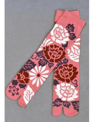 Chaussettes Japonaises roses psychédéliques