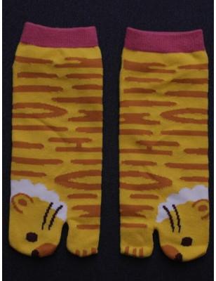 Chaussettes Japonaise Tigre rigolo