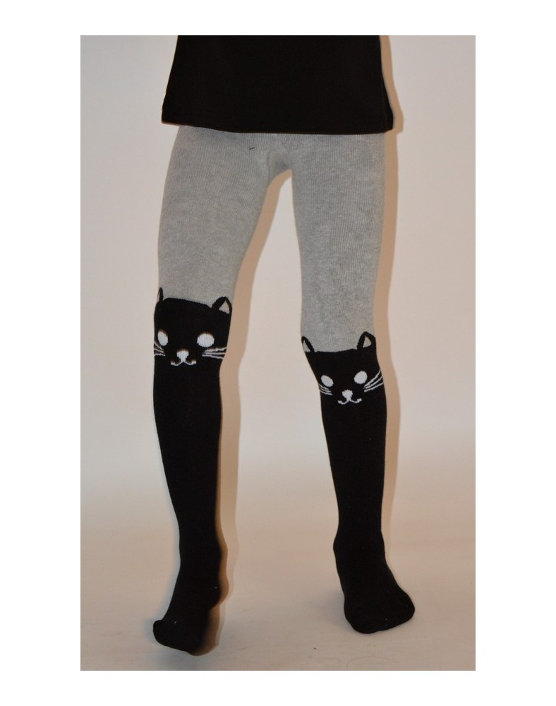 Collant Enfant chaud cuissarde chat