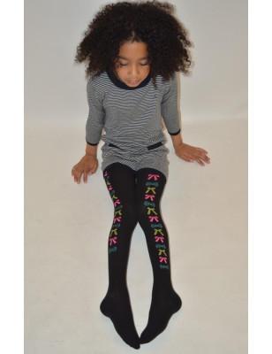 Collant enfant coton petits noeuds de couleurs