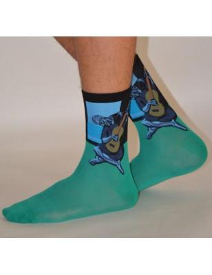 Chaussettes de maitre  Le guitariste bleu de Picasso chaussettes d'artistes