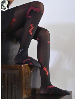 Collant berthe aux grands pieds Abeille Noires et rouges