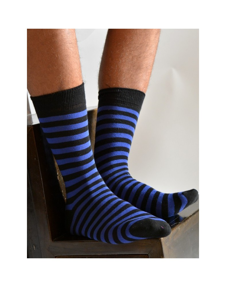 Chaussettes Rayures Bleues Homme