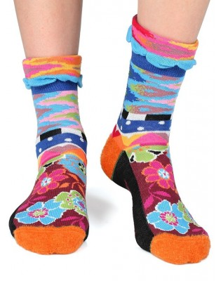 chaussettes Dub et Drino abstract fleuries