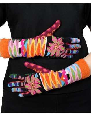 Gants dub et drino abstract fleuri