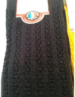 Mi bas laine Torsadée Labonal noir