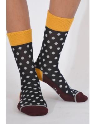Chaussettes Berthe aux grands pieds fil à pois chics
