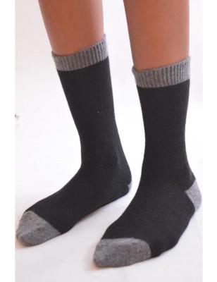 Chaussettes cachemire noire Sangiacomo