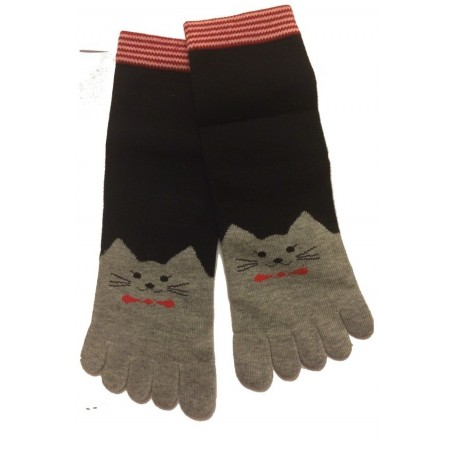 Chaussettes 5 doigts Chats Gris