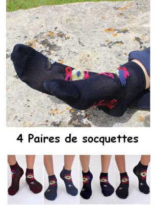 Coffret de Socquettes Berthe auxgrands pieds Abeilles et fleurs assorties