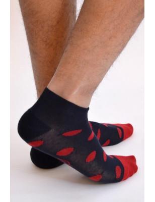 Socquette Sport Berthe aux grands pieds homme à pois