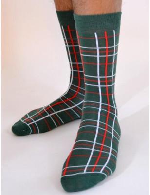 chaussettes Macahel hom Ecossaises vertes