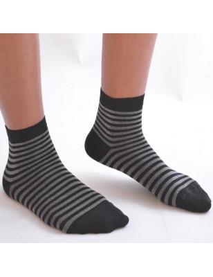 chaussettes lurex rayures argenté