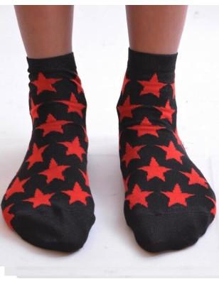 Chaussettes lurex étoiles Rouge