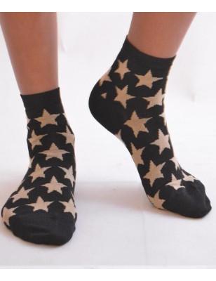 Chaussettes lurex étoiles or