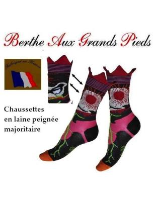 les jolies chaussettes berthe aux grands pieds femme à motifs vraiment originaux