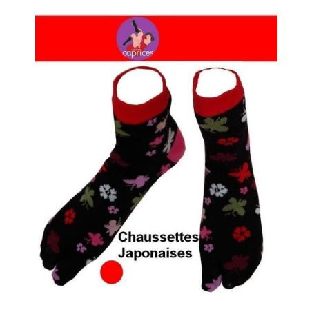 Chaussettes-japonaises-noires-petits-papillons