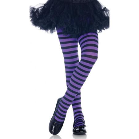 Collant LEg Avenue Enfant rayures Bicolores Violet
