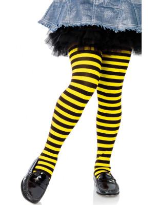 Collant Leg Avenue Enfant rayures Bicolores jaune