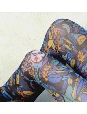Collant sans pieds Marieantoilette chouette